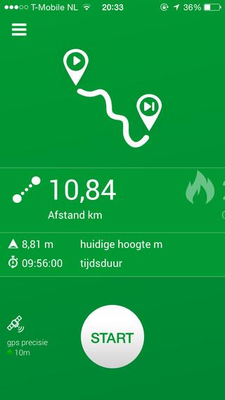 Afstand - wandel hardloop fiets GPS tracker