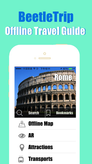 Rome travel guide and offline city map Beetletrip Augmented Reality Rome Metro Train and Walks
