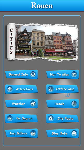 Rouen Offline Map Travel Guide
