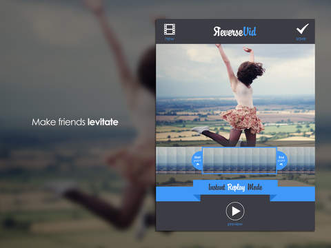 Screenshots of Reverse Vid - Video Rewind Editor for Backwards & Instant Replay Movies For Vine and Instagram for iPad