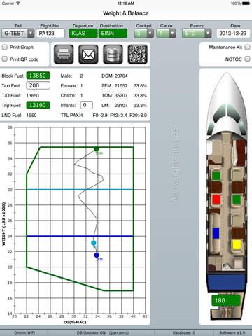 Pan Aero Weight and Balance G150 G200 G280