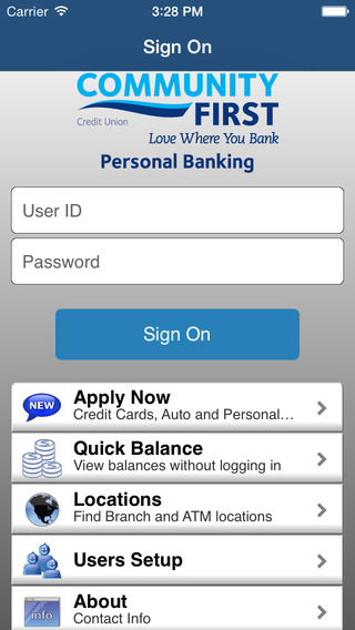 Community First Credit Union Personal Mobile