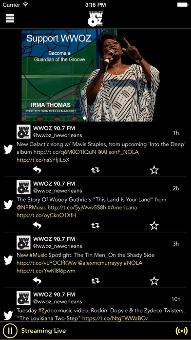 90.7 WWOZ FM / New Orleans / Jazz iPhone Screenshot 1