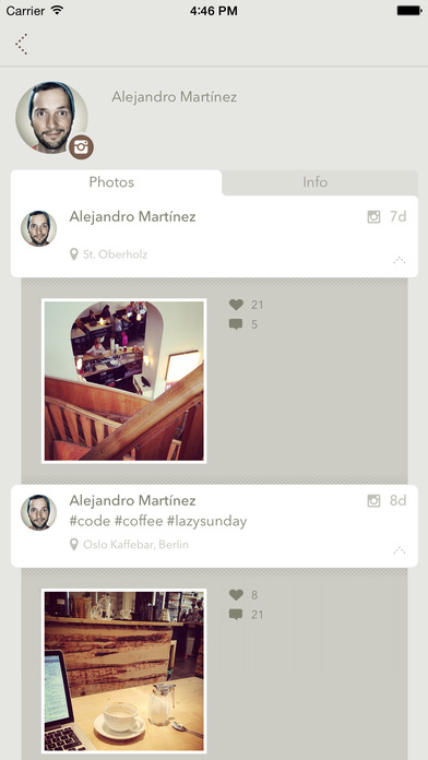 Peopls – Find your friends on Twitter, Instagram, Flickr, Tumblr and others screenshot 4