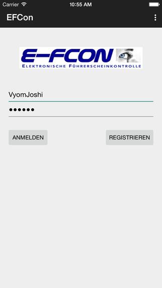 E-FCON - Elektronische Führerscheinkontrolle