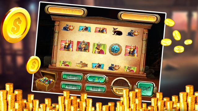 Egypt Golden - Fortune Bonus Slots Games Automatic Spin With Big Win Coins