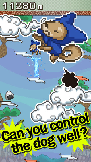 Jump NinjaDog - Crazy game will test your reflexes