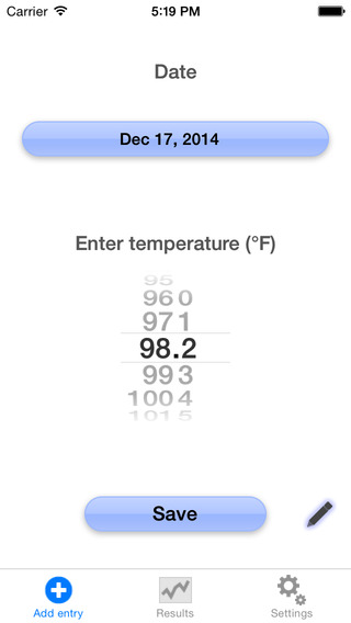 Ovulation temperature tracker