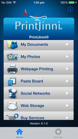 PrintJinni Mobile Printing App