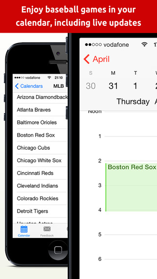 Baseball 2015 Schedule - Games and Live Scores in your Calendar MLB edition BaseballCal