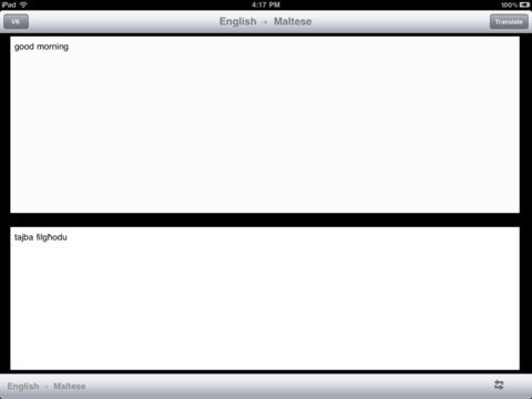 English Maltese Translator iPad Screenshot 1
