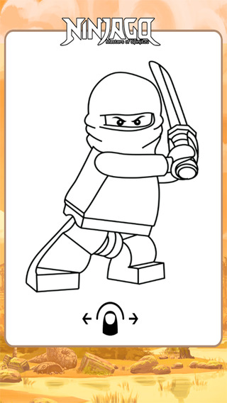 Kids Coloring Game For Lego Ninjago Version Unofficial Fan Apps
