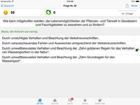 Sportbootführerschein-See iPad Screenshot 2