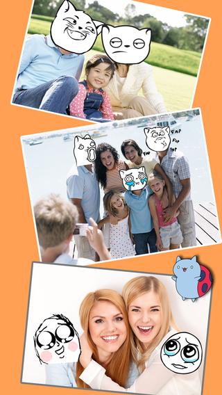 Rage Faces -Swap Doodle Cartoon Heads Split Pics Collage Magic Photo Editor Selfie Clone Camera