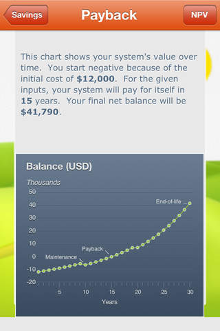Solar Payback Calculator screenshot 2