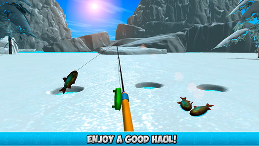 Ice winter fishing 3d full on the app store for Ice fishing apps