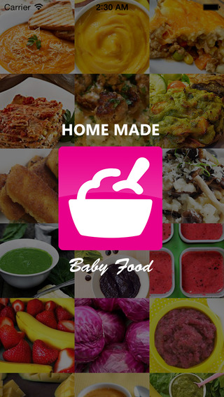 Baby Food Recipe App: Homemade first foods purees and solids guide for babies and toddlers.