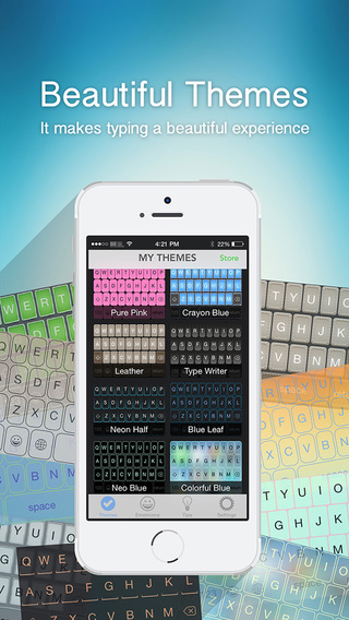 OneKeyboard Pro: colorful predictive custom keyboard with autocorrect