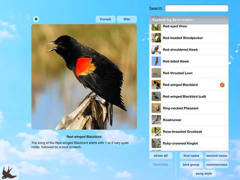 Chirp! Bird Songs Canada iPad Screenshot 1