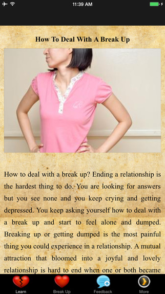 How To Deal With A Break Up - Tough Times