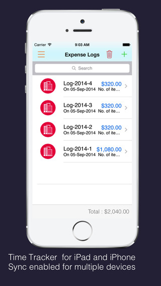 Time Tracker Pro : Log time business expenses create and send pdf invoices