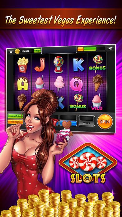 Screenshot 1 #1 Мания конфеты Счастливые Слоты бесплатно Вегас падение сахар сладкий пузырь удачи казино