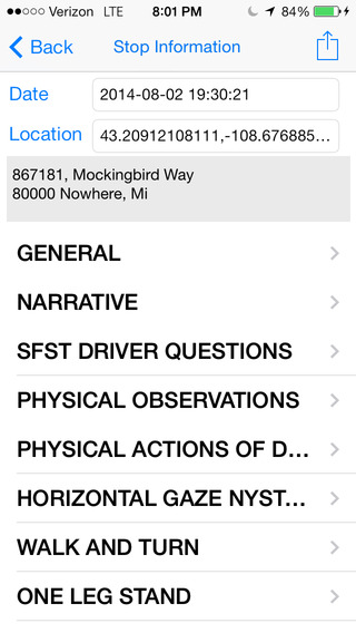 DUI Report