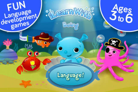 Screenshot 1 Vocabulary and Grammar ! Language development educational games for kids in Preschool,  Kindergarten and Homeschool by i Learn With