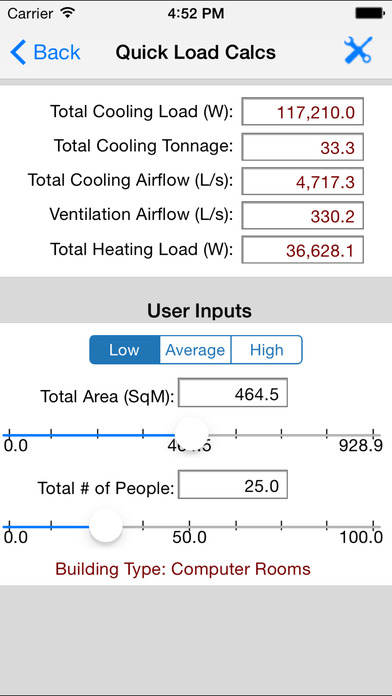 HVAC Quick Load iPhone Screenshot 5