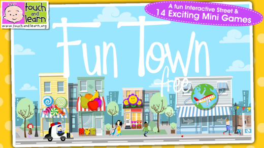 Fun Town for Kids Free - Creative Play by Touch Learn