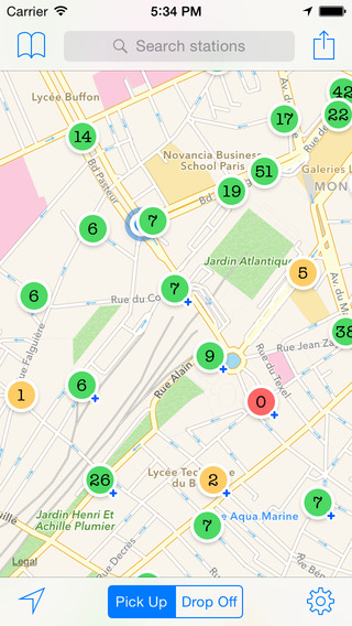 BikeMe - bike-sharing app in France Belgium Luxembourg