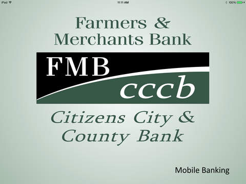 FMB CCCB Mobile Banking for iPad