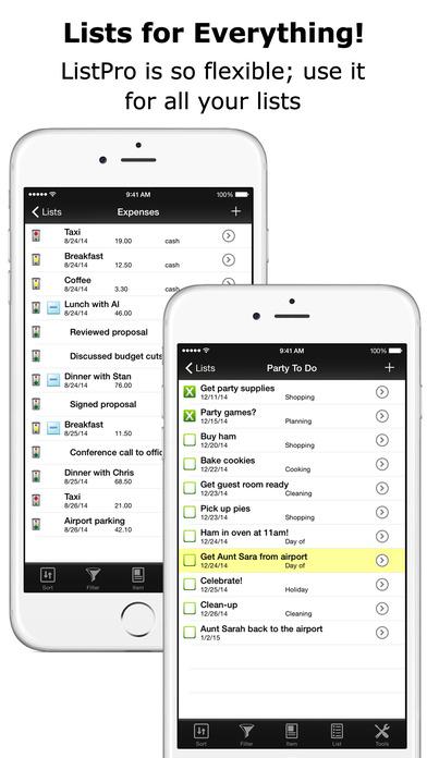 ListPro - Ultimate List Making Tool Kit iPhone Screenshot 2