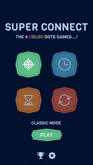Super Connect - The 4 color dots games