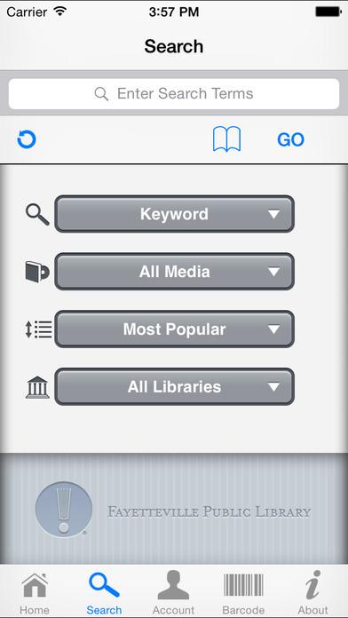 Fayetteville Public iLibrary iPhone Screenshot 2