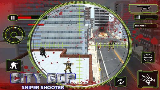 City Cop Sniper Shooting 3D