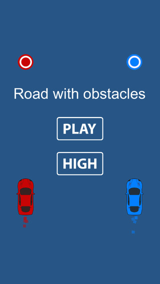 Road with obstacles