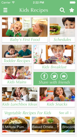 Kids Food - Recipes for babies toddlers and family