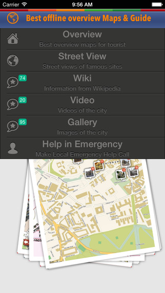 City Tour Guide Edinburgh: offline map with emergency help info sightseeing gallery video and street