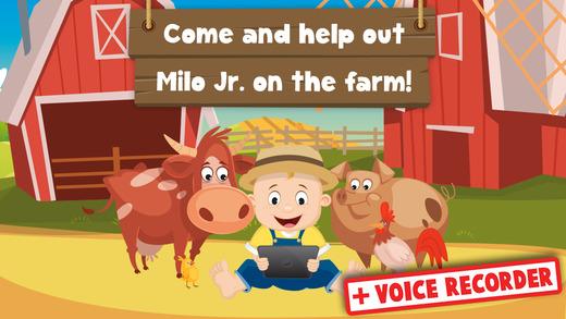 Milo's Free Mini Games for Tots - Barn and Farm Animals Cartoon