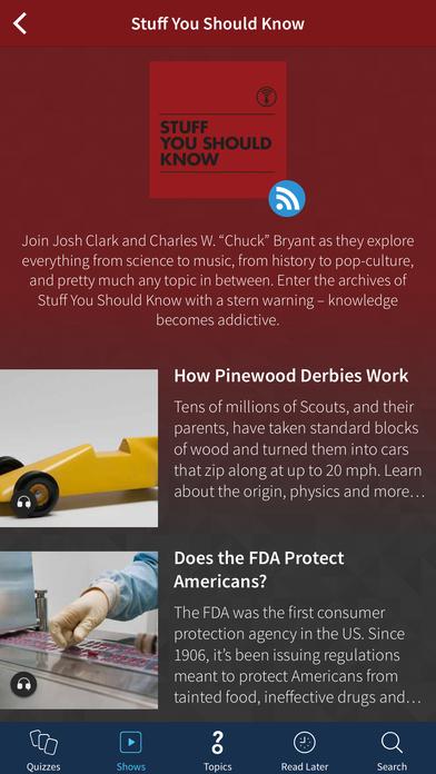 HowStuffWorks iPhone Screenshot 1