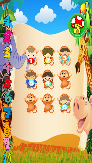 Happy Monkey Toddler Counting Free