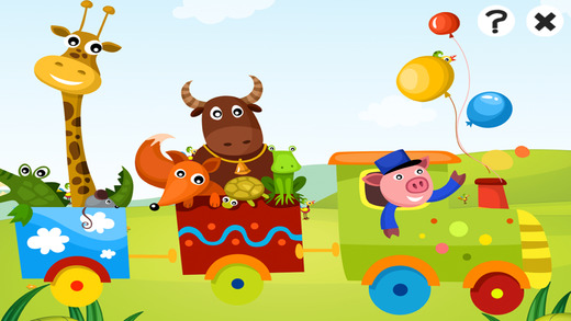 Train Ride: a Game to Learn and Play for Children with Animal-s and Funny Passengers