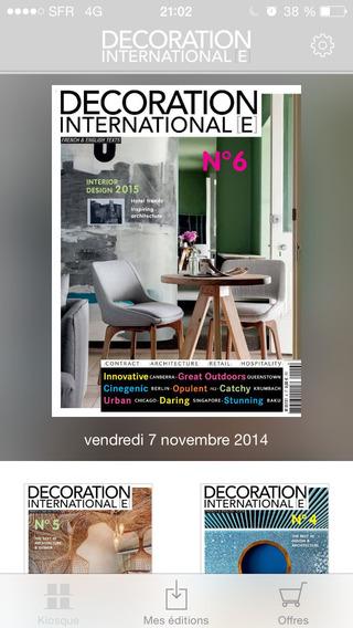Décoration Internationale Magazine : Architecture et design d'exception