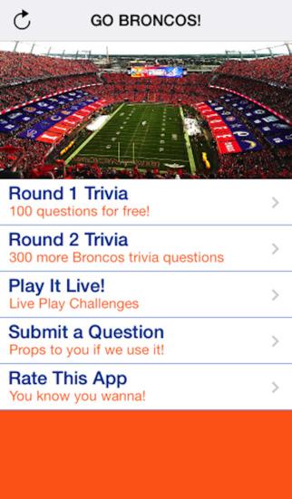 Tailgate Trivia Broncos Edition
