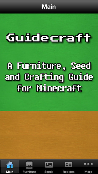 Guidecraft - Seeds Furniture Ideas and Crafting Guide for Minecraft