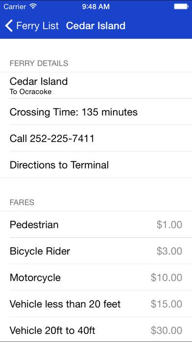 NC Ferries iPhone Screenshot 4