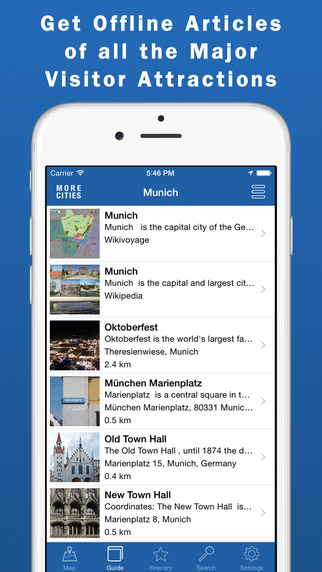 Munich Travel Guide Offline Map