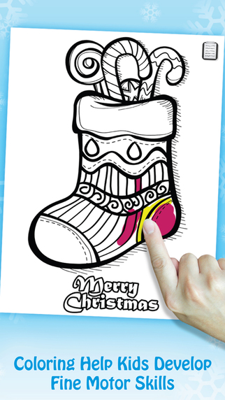 Swipea Paint and Play: Merry Christmas Happy New Year - Kids Coloring Book Doodle Pages