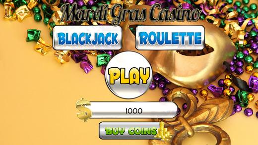 A Aaron Mardi Gras Casino and Roulette Blackjack